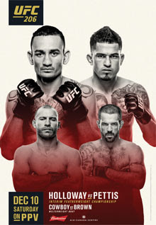 Review of UFC 206 pay-per-view Holloway vs Pettis