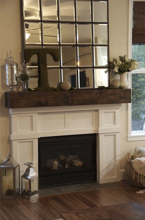 Cheeky chic the age old decorating question fireplace - How to decorate a mantel with a mirror above it ...