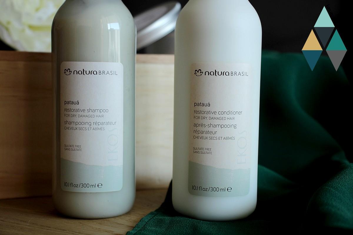 shampooing et après shampooing réparateur ekos pataua natura brasil