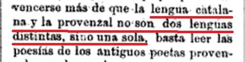 ¿D´aquesta unitat llingüística entre català i provençal no diuen res la ASCUMA, Ignacio Sorolla Vidal, franja morta, IEC, AVL, tv3, à punt, ib3, etc ?   Nicolás M. Serrano; Diccionario universal de la lengua castellana, 1878