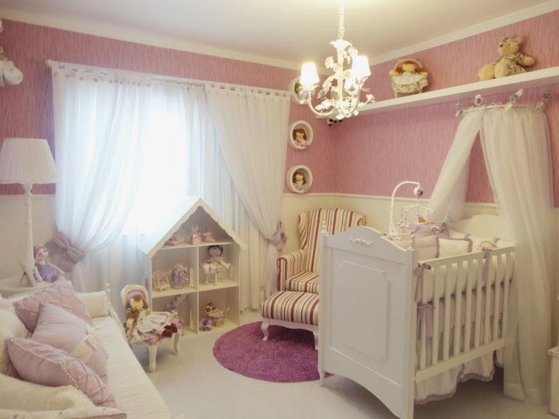 Cuarto para beb en color lila ideas para decorar - Cuartos de ninos decorados ...