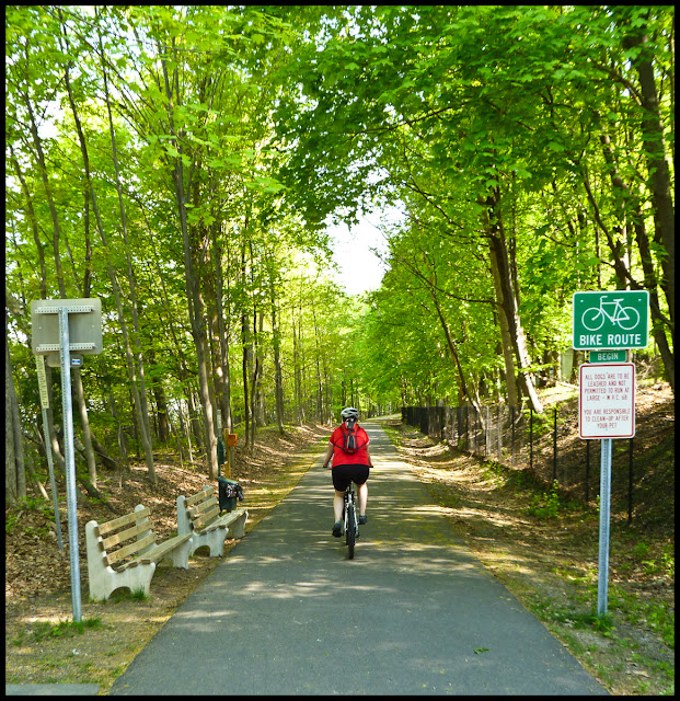 Walden Rail Trail is paved in its entirety, and starting from Walden mostly downhill.