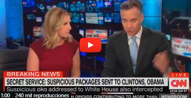 CNN cortó su transmisión en vivo tras recibir un paquete bomba