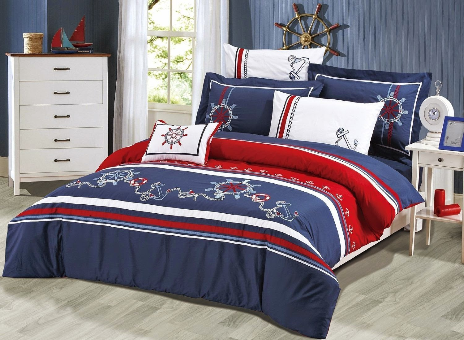 Bedroom Decor Ideas and Designs: Top Nautical Sailor ...
