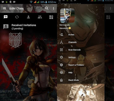 BBM Mod - Attack on Titan v3.2.5.12 APK