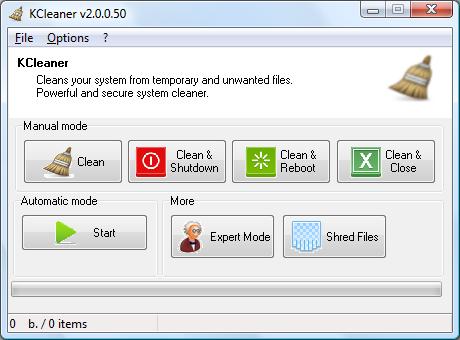 تحميل برنامج زيادة المساحة للكمبيوتر مجانا KCleaner 3.2
