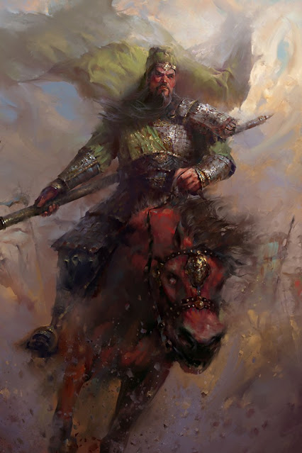 Chapter 25 : Besieged In Tushan, Guan Yu Makes Three Conditions; Relieved At Baima, Cao Cao Beholds A Marvel.