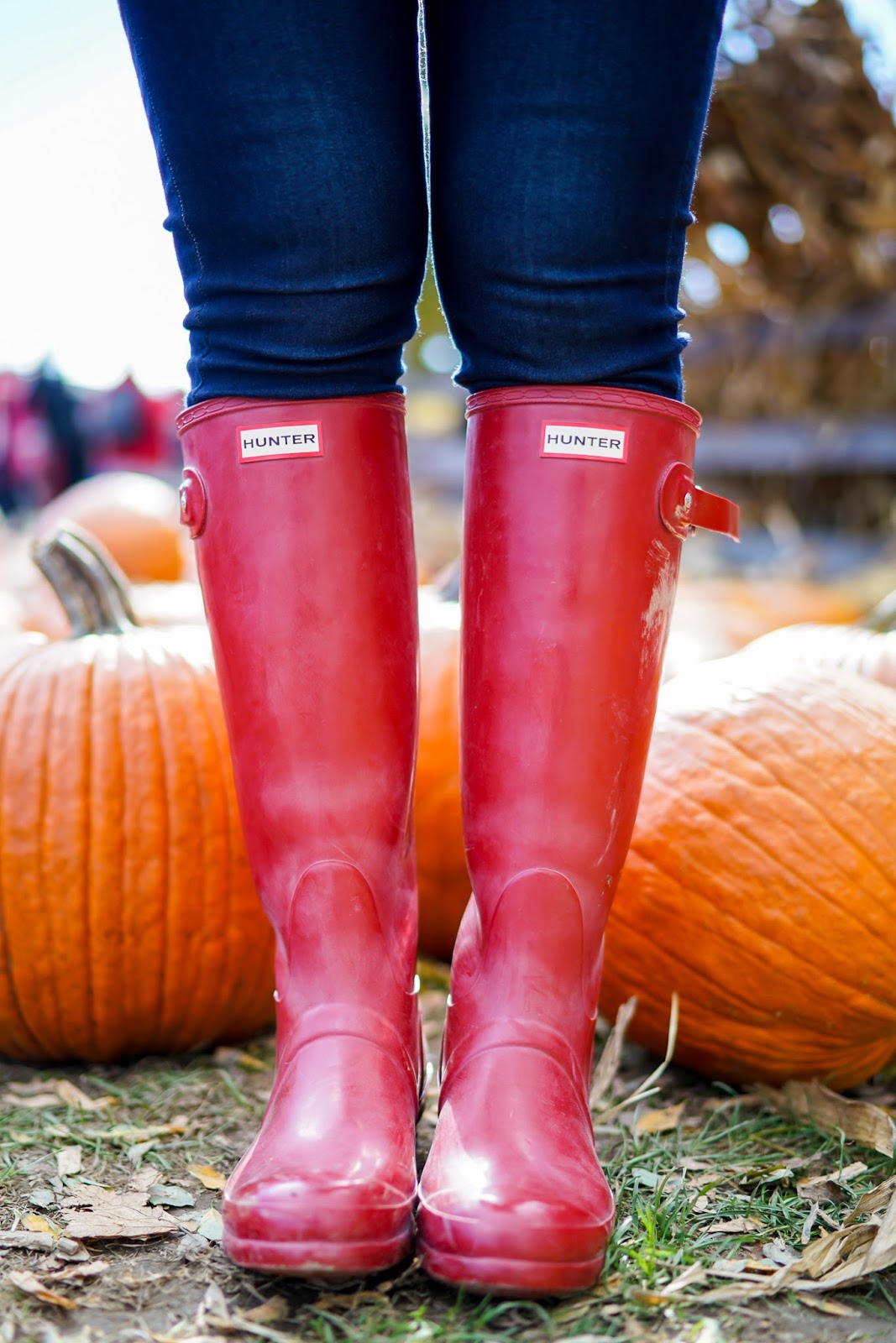 Hunter Red Gloss Boots