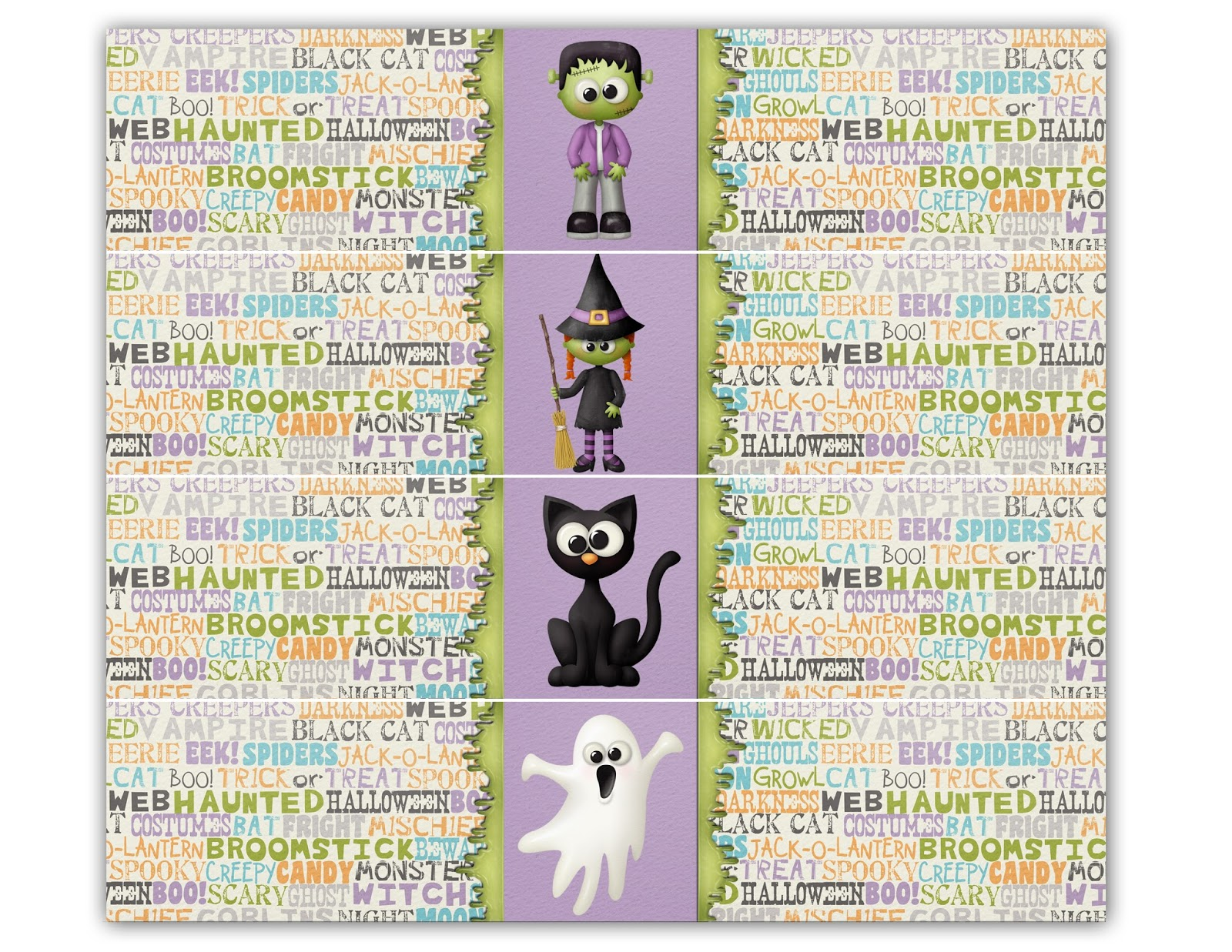 M K Designs Blog Halloween Snack Labels