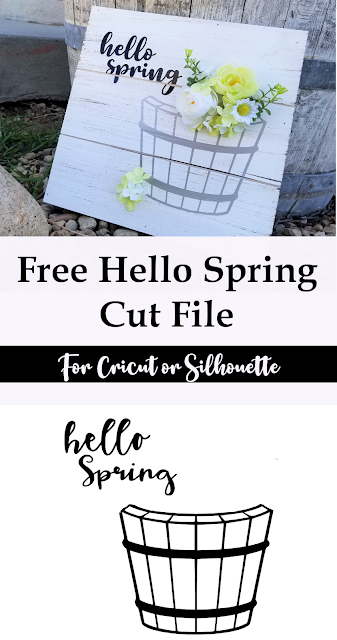 Free Hello Spring Cut File for a fun sign or vinyl project