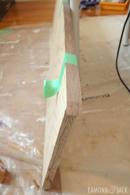 Applying the edge banding