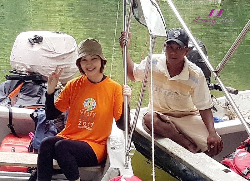 royal belum rainforest sungai kooi motor boat