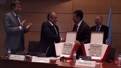المجلس الدولي للزيتون, عز الدين أبو ستيت, وزير الزراعة, الانتاج العالمي,