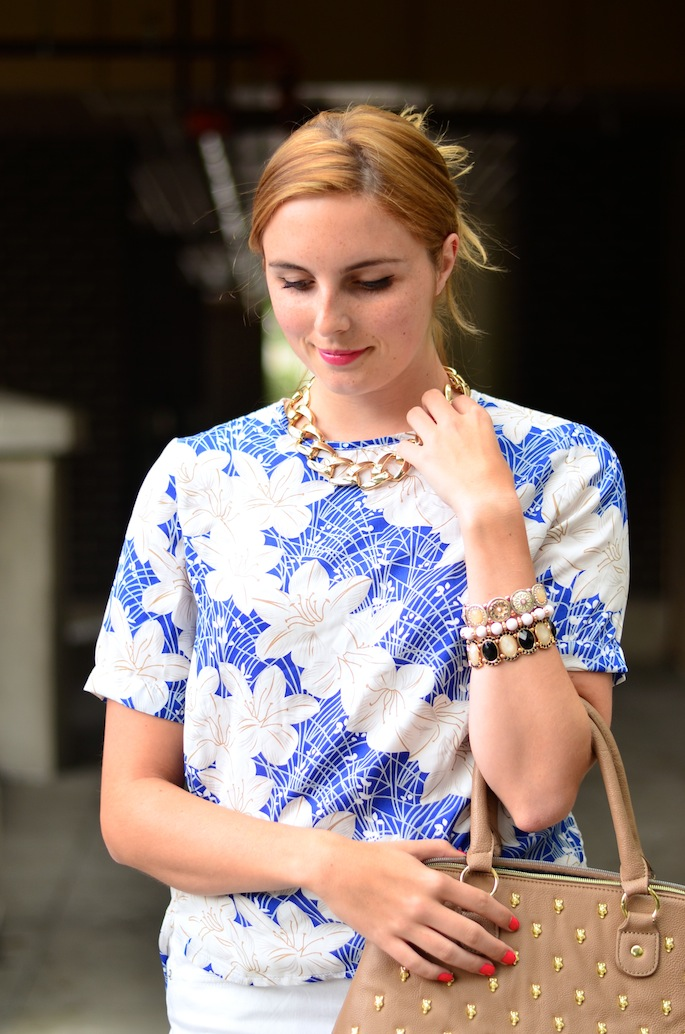 floral sheinside blouse