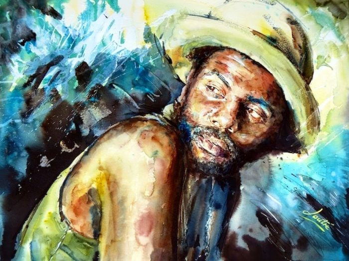 Акварельная живопись. Nicola Lautre