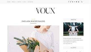 Voux Minimal Blogger Template