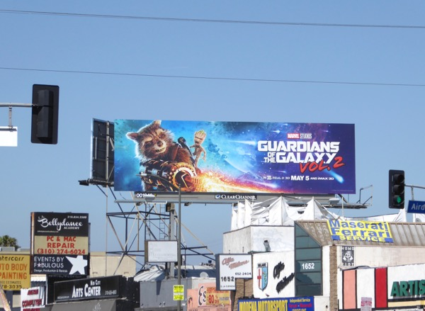 Guardians of Galaxy 2 Rocket Groot billboard