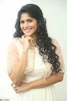 Megha Akash in beautiful Cream Transparent Anarkali Dress at Pre release function of Movie LIE ~ Celebrities Galleries 036.JPG