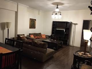 شقة للايجار مفروش بالحى الخامس التجمع الخامس 120 م بالقاهرة الجديدة ارضى منخفض بمدخل خاص وحديقة