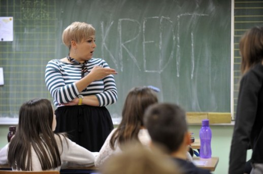 Učiteljica iz srednje škole