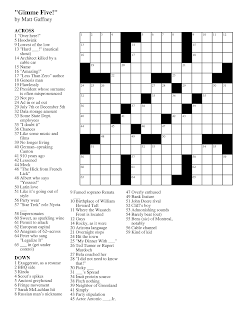 Matt Gaffney's Weekly Crossword Contest: June 2012
