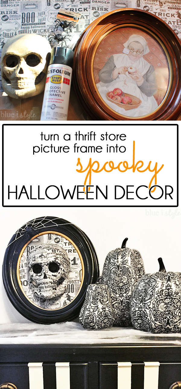 Halloween Decoration Idea - Skull Spiderweb