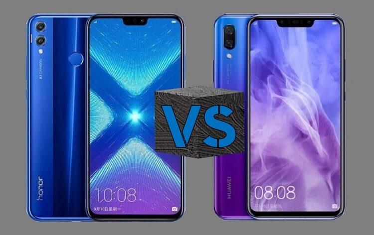 Honor 8X versus Huawei Nova 3i
