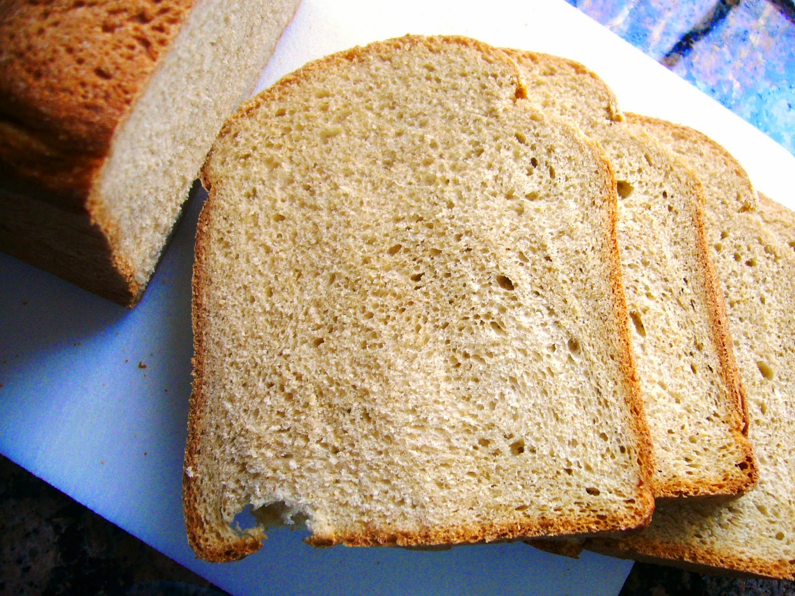 Whole Wheat bread baked in the West Bend 2.5 Pound Hi-Rise Bread Machine