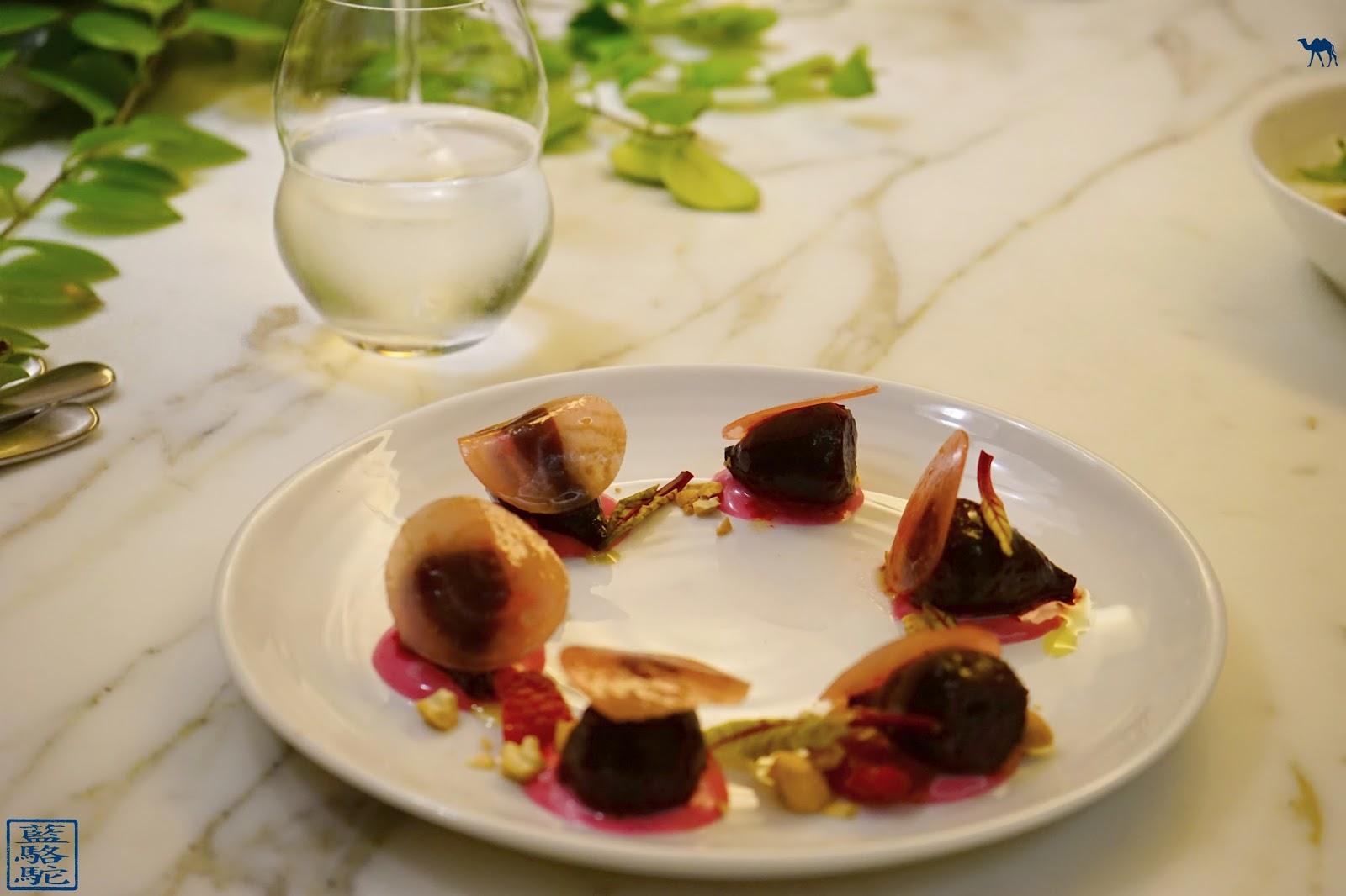 Le Chameau Bleu - Blog Restaurant Noglu Paris - Betterave, Noix de Cajou, Gorgonzola, Framboise