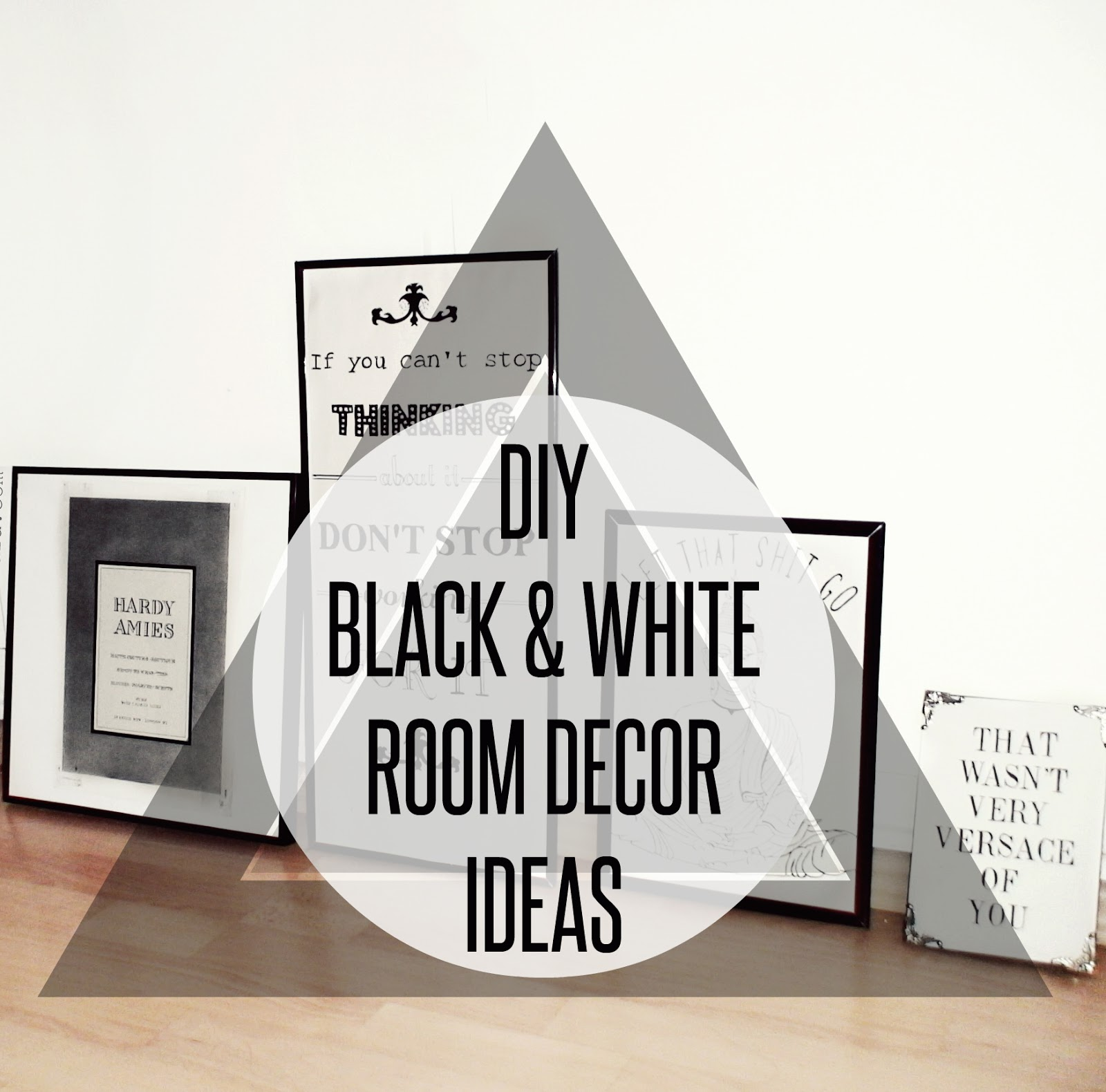 DIY BLACK WHITE FASHION ROOM DECOR Venetia Kamara