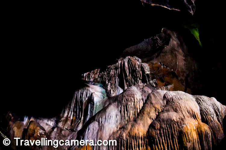 Borra caves are one of the largest in the country, at an elevation of about 705 meters. The caves are basically karstic limestone structures with depth of 80 meters, and are considered the deepest caves in India.