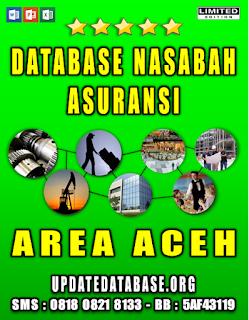 Jual Database Nasabah Asuransi Aceh