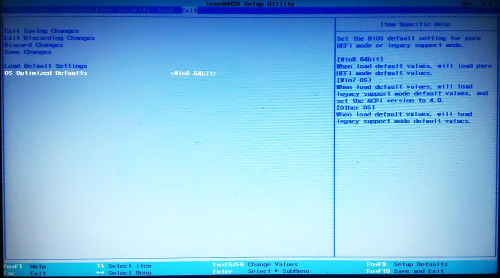 Install Windows7- 64bit di LENOVO G40 (Bios InsydeH20 Setup Utility