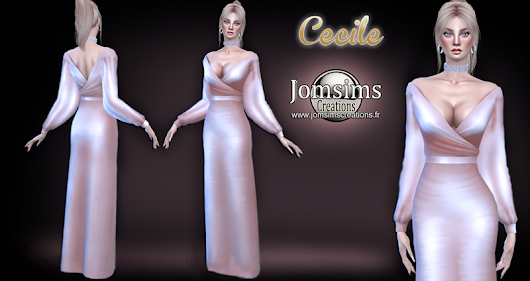 Cecile dress click image to download womens clothing area on. http://www.jomsimscreations.fr WEBSITE