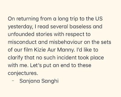 Sanjana Metoo News