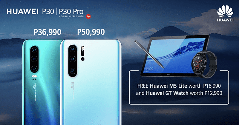 Promo: Huawei P30/P30 Pro comes with PHP 32K freebies at SM Megamall today