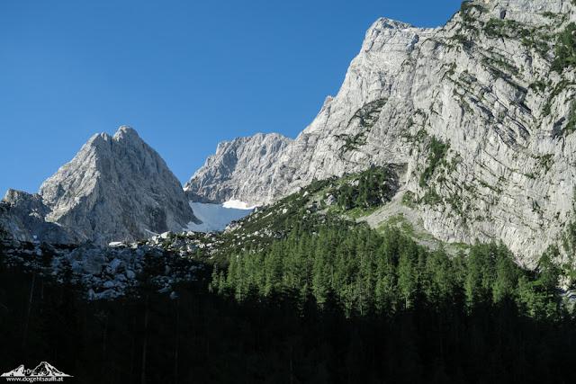 Hochkalter über Blaueisgletscher - die nördlichste Hochtour der Alpen