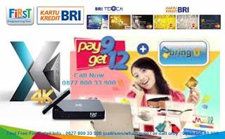 First Media Pay 9 Get 12 Kartu Kredit BRI