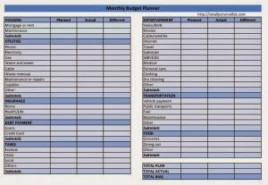 Home Budget Worksheet Template. simple household budget worksheet ...