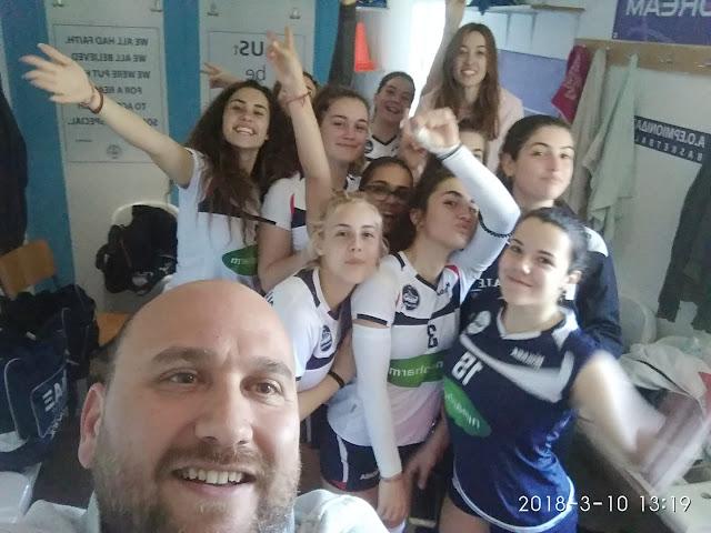 Πρόκριση στην Β' φάση του πρωταθλήματος Πελοποννήσου για την ομάδα βόλεϊ κορασίδων του Οίακα