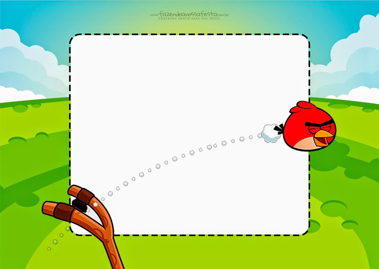 Angry Birds Free Printable Invitations
