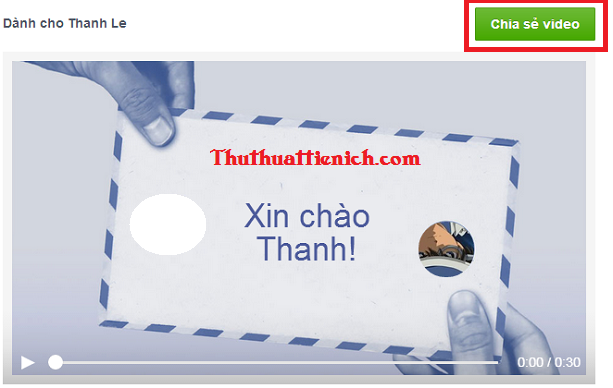 """Tạo video """"Nói lời cảm ơn với Facebook"""""""