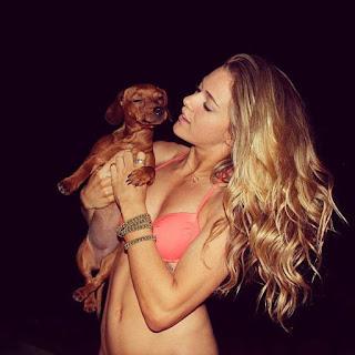 JJ Watt's wife Kealia Ohai with dog