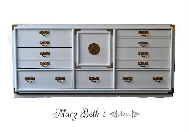white dresser campaign dresser mcm midcentury modern