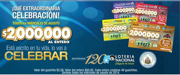 Resultados Loteria 20 agosto 2014