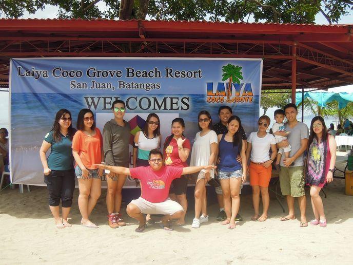 Group photo at Laiya Coco Grove Beach Resort