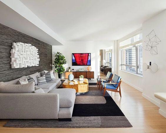 Decoração de sala de estar moderna
