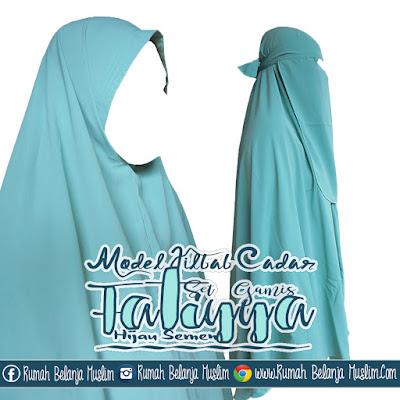 Model Jilbab Cadar Gamis Fatiyya Hijau  Semen I