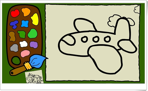 """""""Colorea dibujos en movimiento"""" (Juego de Educación Infantil)"""