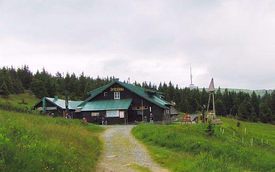 Chata Švýcárna (niem. Schweizerei; 1304 m n.p.m.).